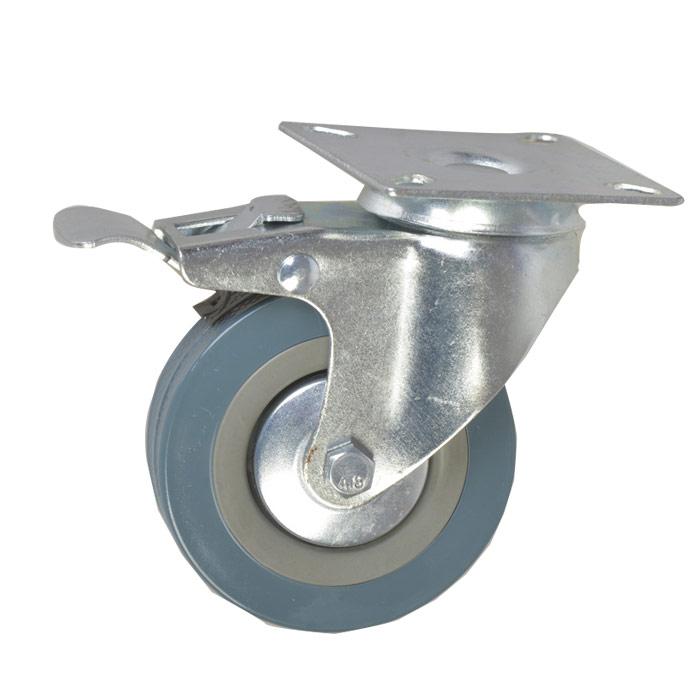 灰胶透明医疗脚轮