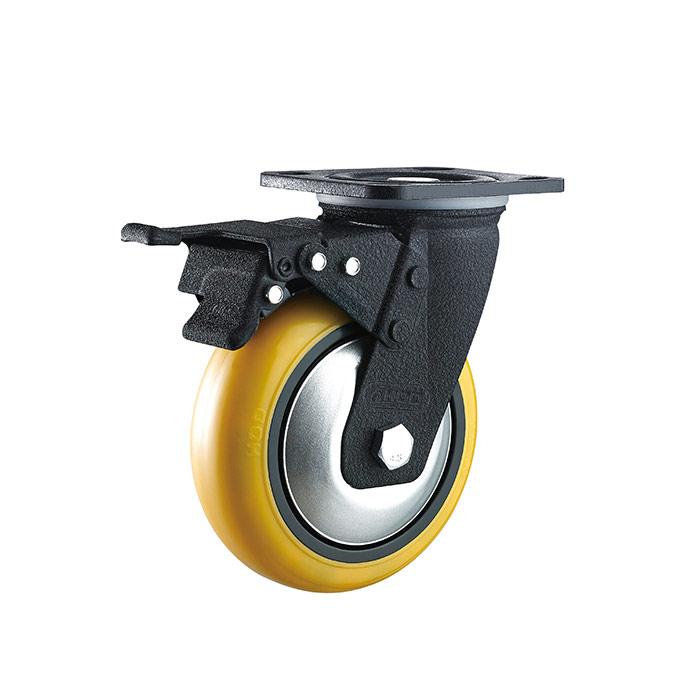 重型平底双刹仪器脚轮