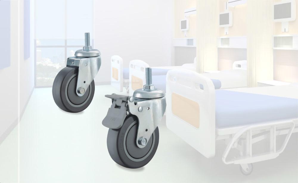 医疗镀铬丝杆活动脚轮