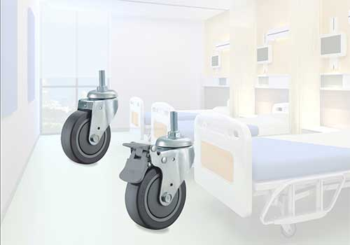 中山业亿生产的中型脚轮产品展示